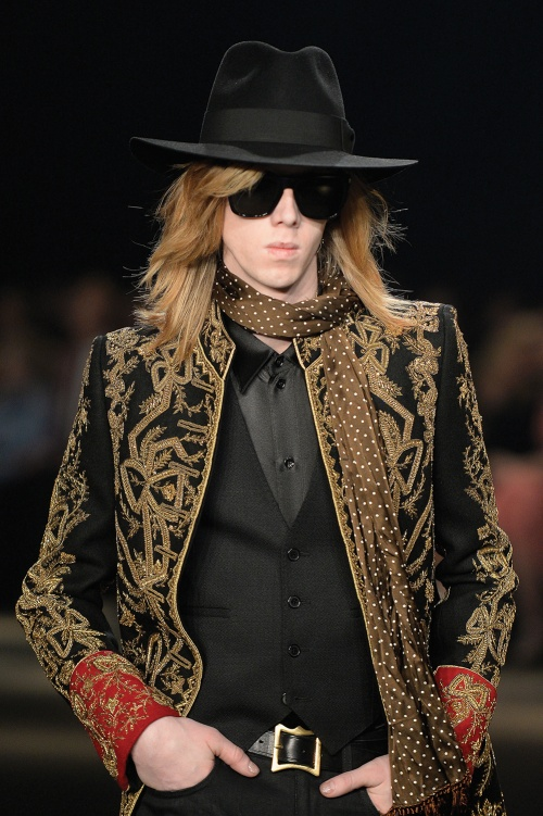 The latest Saint Laurent collection referenced rock, befitting a star performer in Slimane